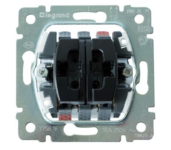 Przycisk podwójny przełączny 10A-250V~ SISTENA LIFE 775818