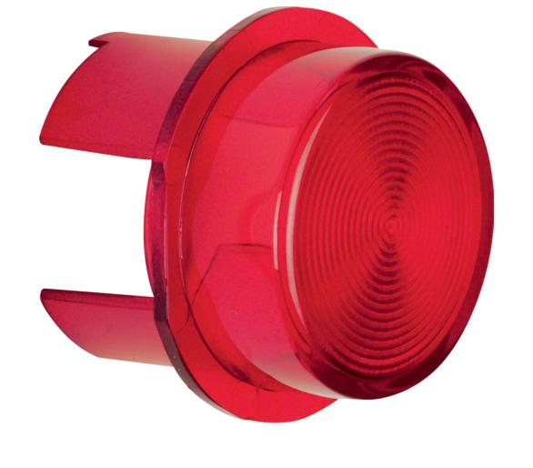 Klosz do sygnalizatora świetlnego E10, czerwony przezroczysty Berker 1281