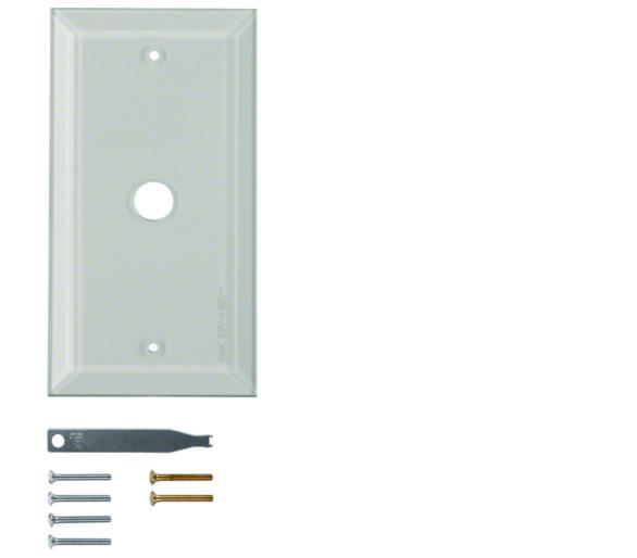 Berker TS Szklana płytka dekoracyjna 1-kr ze ściętymi brzegami, szkło bezbarwne Berker 1311