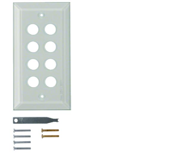 Berker TS Szklana płytka dekoracyjna 8-kr ze ściętymi brzegami, szkło bezbarwne Berker 1388