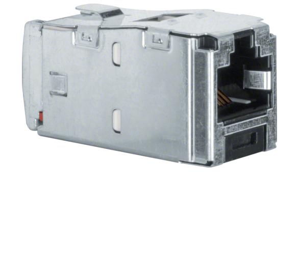 Akcesoria osprzęt Mini Jack 8-biegunowy RJ45, kat. 5, czarny Berker 1984