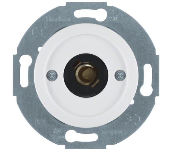 Serie 1930/Glas Łącznik i sygnalizator świetlny E10 z płytką czołową, biały Berker 5104