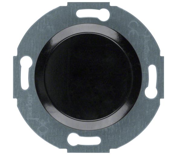 Serie 1930/Glas Zaślepka z płytką czołową, czarny Berker 100921