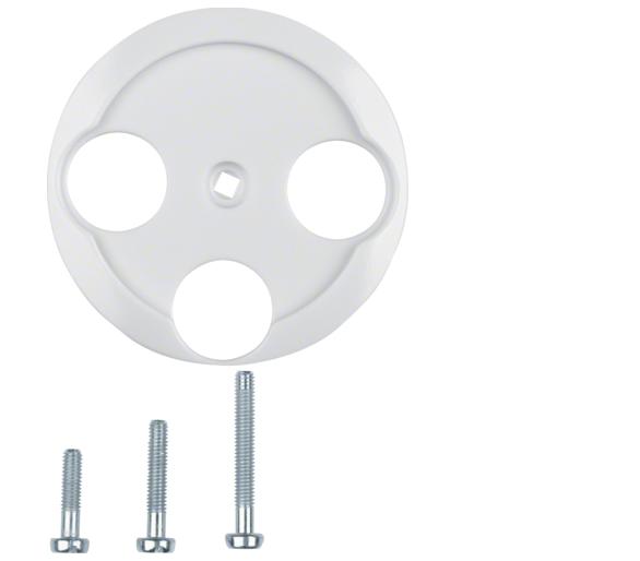 Serie 1930/Glas Płytka czołowa do gniazda antenowego 3-wyjściowego, biały Berker 106420