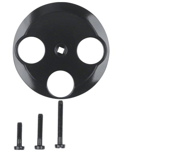 Serie 1930/Glas Płytka czołowa do gniazda antenowego 3-wyjściowego, czarny Berker 106421
