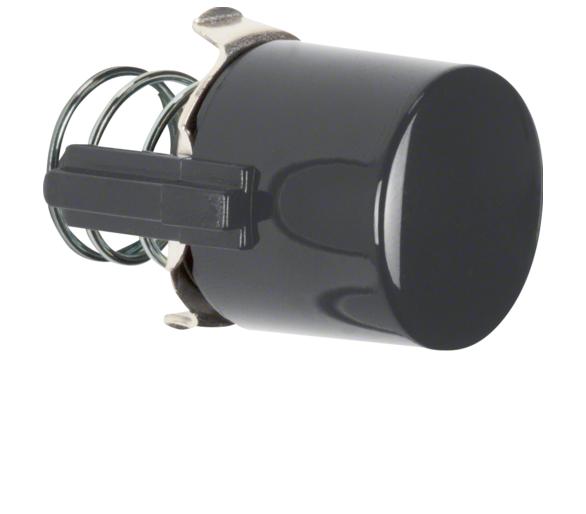 Serie 1930/Glas Przycisk do łącznika i sygnalizatora E10, czarny Berker 122501