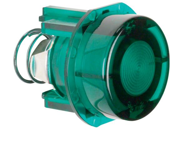 Akcesoria osprzęt Przycisk do łącznika i sygnalizatora E10, zielony przezr. Berker 127903