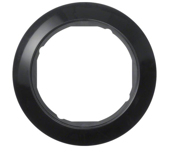 Serie 1930 Ramka pojedyncza do płytek czołowych Ø 58 mm, czarny Berker 138201