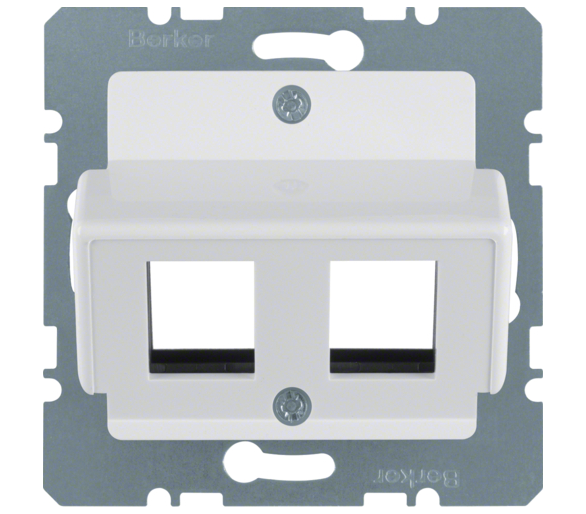 B.Kwadrat Płytka czołowa do gniazda modularnego Krone, biały Berker 146409