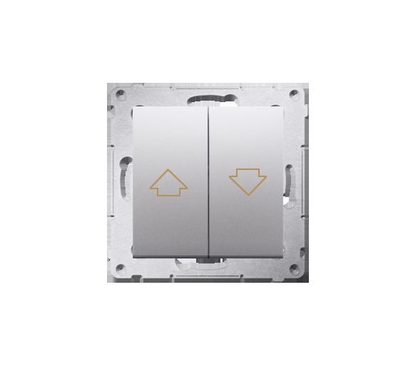 Przycisk żaluzjowy pojedynczy srebrny mat, metalizowany 16A DZP1A.01/43