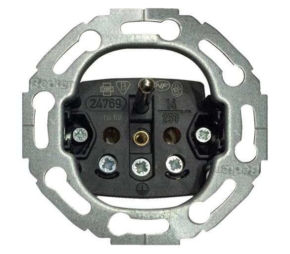 one.platform Mechanizm gniazda z uziemieniem, serie okrągłe Berker 396765