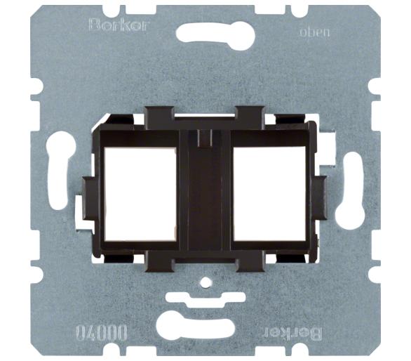 one.platform Płytka nośna podwójna z brązowym elementem mocującym, mechanizm Berker 454107