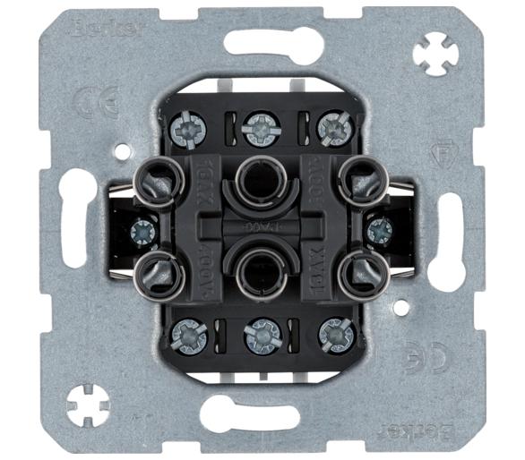 one.platform Łącznik 3-klawiszowy 3-krotny, mechanizm, zaciski śrubowe Berker 533023