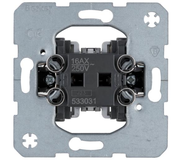one.platform Łącznik 1-klawiszowy 1-biegunowy, mechanizm, samozaciski Berker 533031