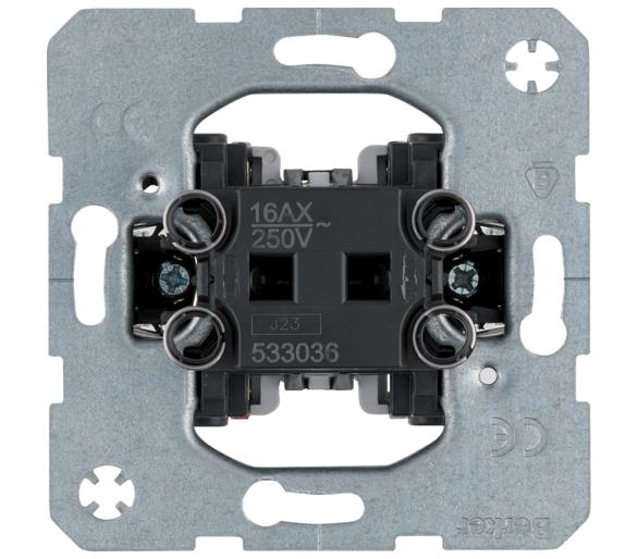 one.platform Łącznik 1-klawiszowy uniwersalny (schodowy), mechanizm, samozaciski Berker 533036