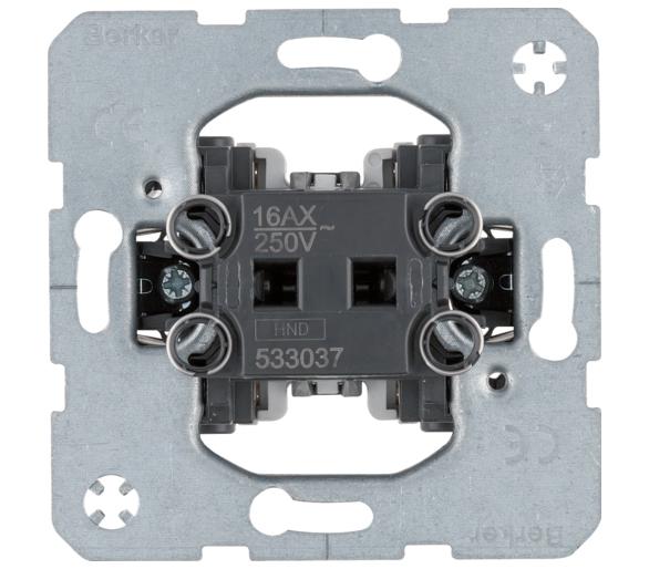 one.platform Łącznik 1-klawiszowy krzyżowy, mechanizm, samozaciski Berker 533037