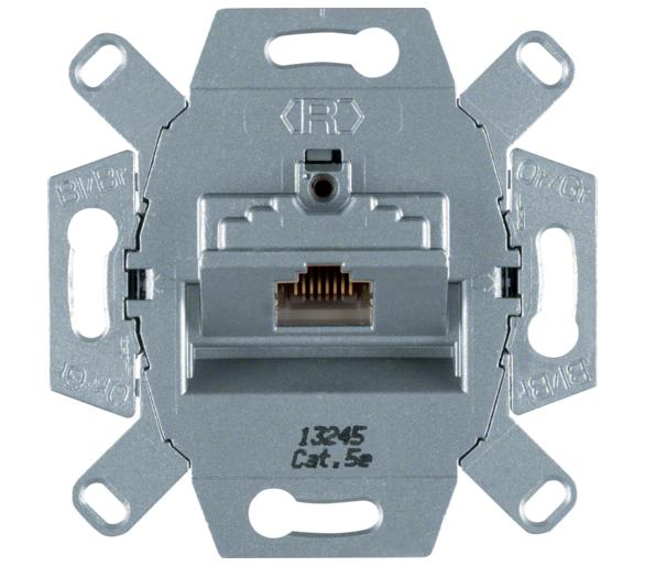 one.platform Mechanizm gniazda komputerowego UAE 1-kr (RJ45), ekranowane kat. 5e Berker 534554