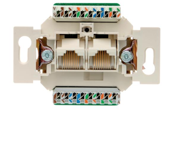 one.platform Mechanizm gniazda komputerowego UAE 2-kr (RJ11, RJ12, RJ45) kat. 5e Berker 534576