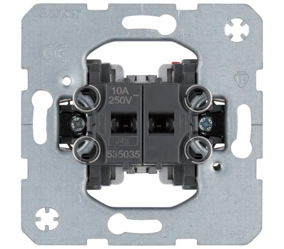 one.platform Łącznik 2-klawiszowy przyciskowy, 2 zestyki zwierne Berker 535035