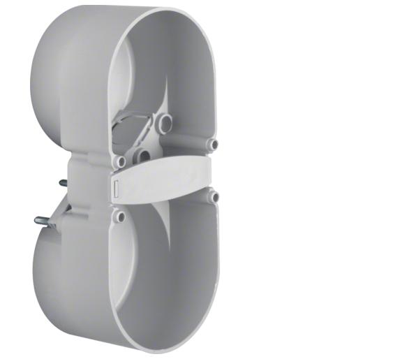 Integro Flow Puszka podtynkowa 2-krotna, z zaciskiem przewodu, szary Berker 9191501