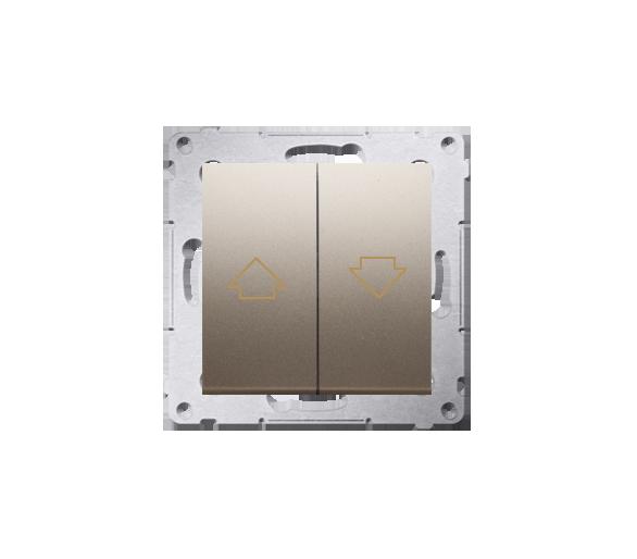 Przycisk żaluzjowy pojedynczy złoty mat, metalizowany 16A DZP1A.01/44