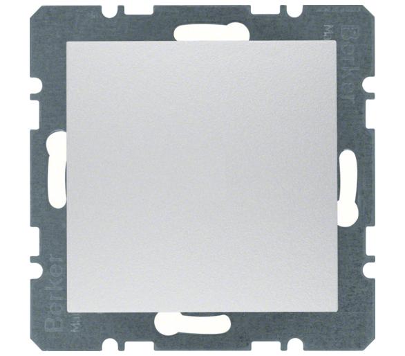 B.Kwadrat/B.7 Zaślepka z płytką czołową bez pazurków rozporowych, alu Berker 10091404