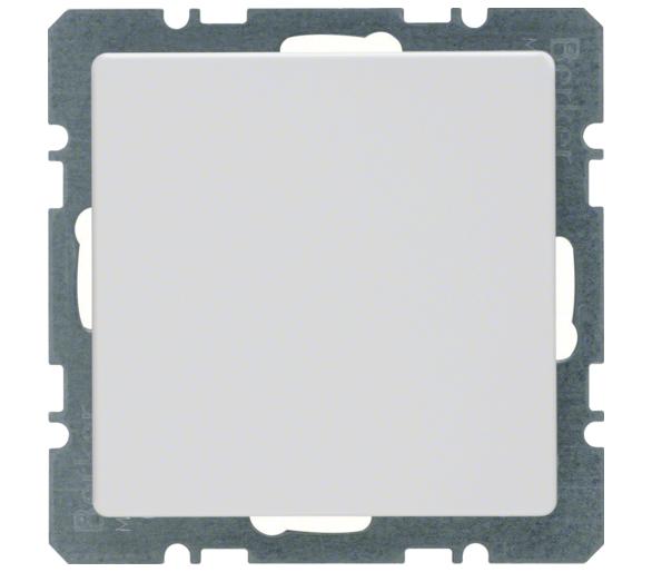 Q.x Zaślepka z płytką czołową, bez pazurków rozporowych, biały, aksamit Berker 10096089