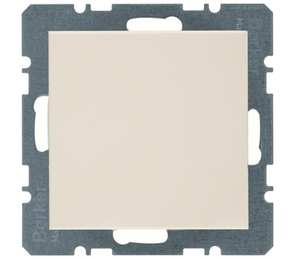 B.Kwadrat/S.1 Zaślepka z płytką czołową, bez pazurków rozporowych, krem, połysk Berker 10098982