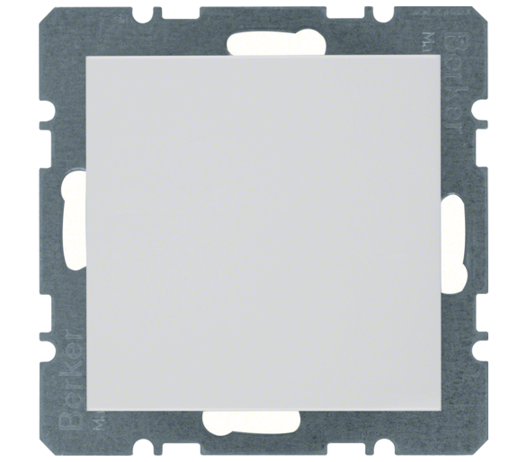 B.Kwadrat/S.1/B.3/B.7 Zaślepka z płytką czołową, bez pazurków rozporowych, biały Berker 10098989