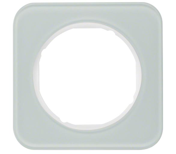 R.1 Ramka 1-krotna, szkło, biały Berker 10112109