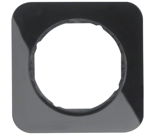 R.1 Ramka 1-krotna, czarny, połysk Berker 10112145