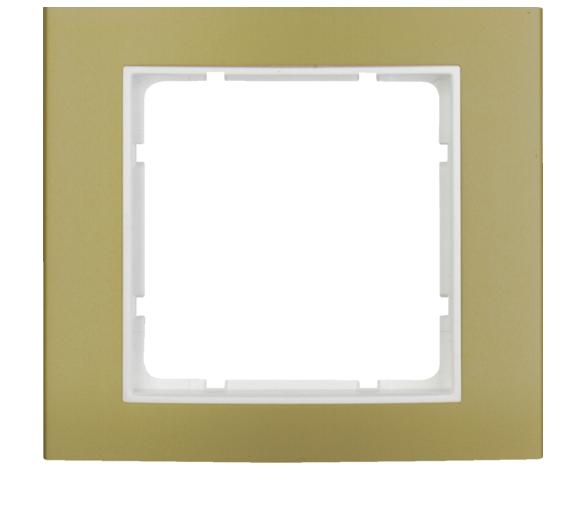 B.3 Ramka 1-krotna, złoty/biały Berker 10113046