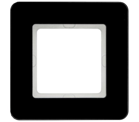 Q.7 Ramka 1-krotna, szkło, czarny Berker 10116076