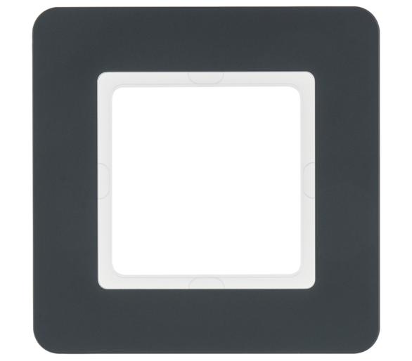 Q.7 Ramka 1-krotna, antracyt aksamit, lakierowany Berker 10116186