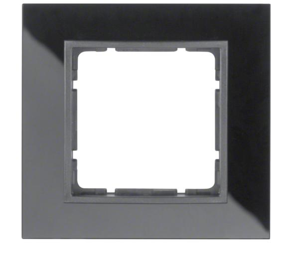 B.7 Ramka 1-krotna, szkło czarne/antracyt mat Berker 10116616