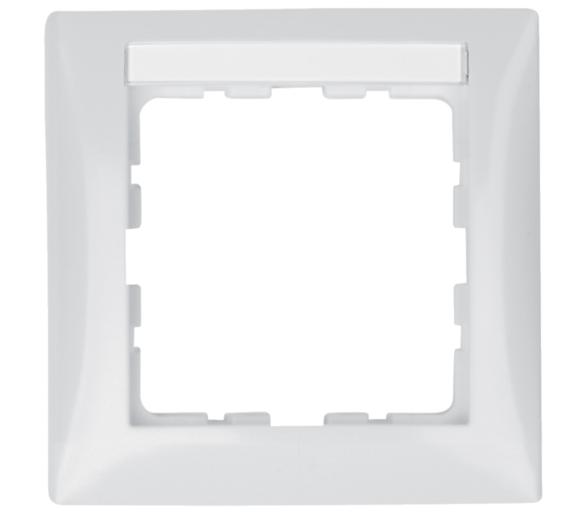 B.Kwadrat Ramka 1-krotna z polem opisowym, biały, połysk Berker 10118919