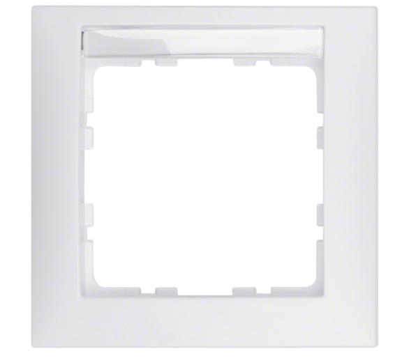 S.1 Ramka 1-krotna z polem opisowym, biały, mat Berker 10119919