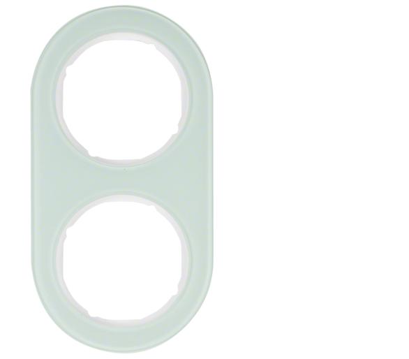 R.classic Ramka 2-krotna, szkło, biały Berker 10122009