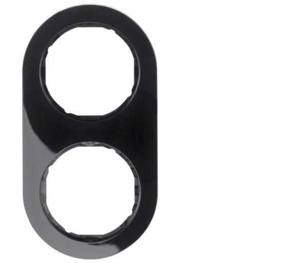 R.classic Ramka 2-krotna, czarny, połysk Berker 10122045