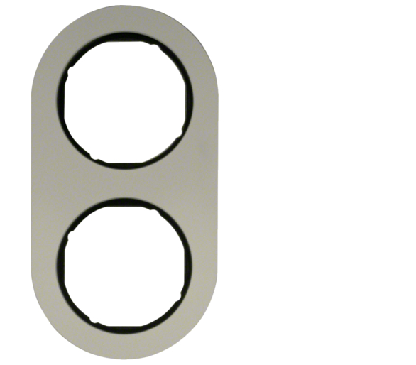 R.classic Ramka 2-krotna, aluminium/czarny Berker 10122084
