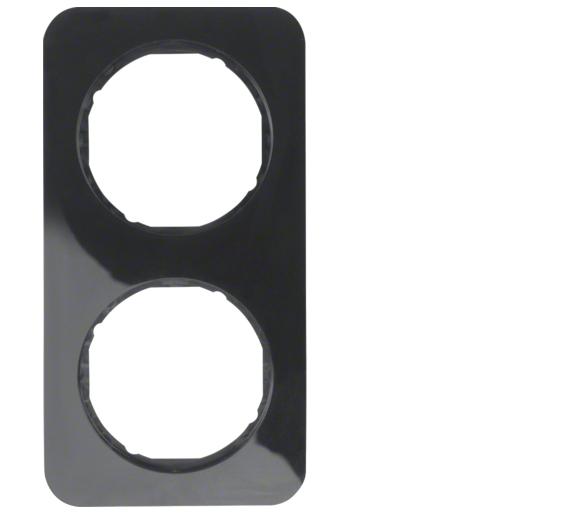 R.1 Ramka 2-krotna, czarny, połysk Berker 10122145