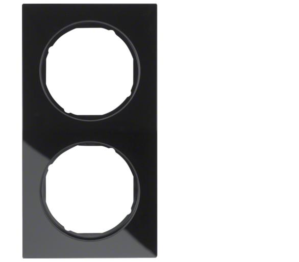 R.3 Ramka 2-krotna, szkło, czarny Berker 10122216