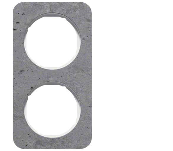 R.1 Ramka 2-krotna, beton/biały Berker 10122379