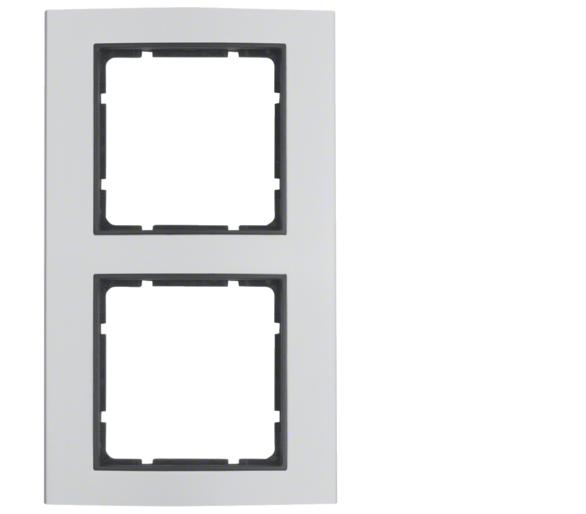 B.3 Ramka 2-krotna, alu/antracyt Berker 10123004