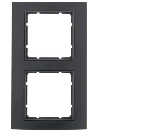 B.3 Ramka 2-krotna, alu, czarny/antracyt Berker 10123005