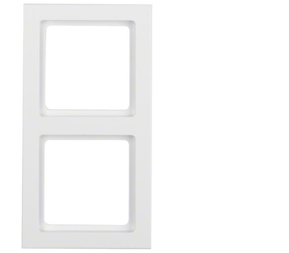 Q.3 Ramka 2-krotna, biały, aksamit Berker 10126099