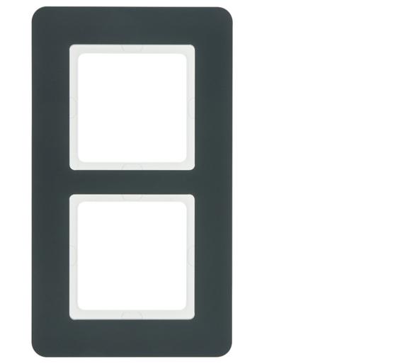 Q.7 Ramka 2-krotna, antracyt aksamit, lakierowany Berker 10126186