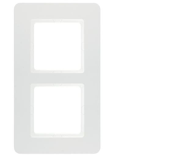 Q.7 Ramka 2-krotna, biały aksamit, lakierowany Berker 10126189