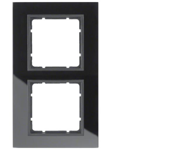 B.7 Ramka 2-krotna, szkło czarne/antracyt mat Berker 10126616