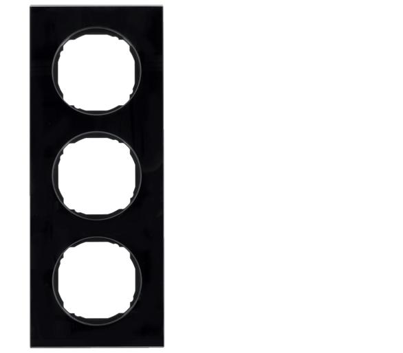 R.8 Ramka 3-krotna, szkło, czarny Berker 10132616